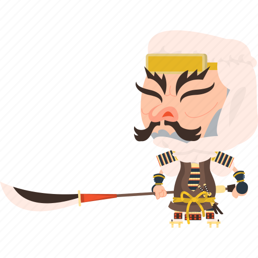 asian, avatar, character, guard, japan, japanese, kimono, man, mascot, ninja, samurai, sohei, soldier, spear, team member, warrior icon