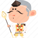 asian, avatar, character, guard, japan, japanese, kimono, man, mascot, ninja, samurai, spear, team member, warrior, yamabushi icon
