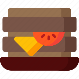 bread, cook, food, kitchen, meal, sandwich icon