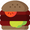 burger, cheese, cooking, food, hamburger, meal, restaurant icon