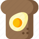 bread, breakfast, egg, food, healthy, sandwich, toast icon