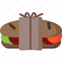 bakery, bread, breakfast, food, kitchen, sandwich icon