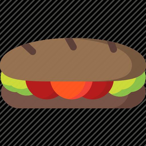 bread, food, healthy, meal, restaurant, sandwich icon