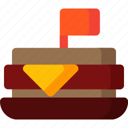 cheese, cooking, food, meal, restaurant, sandwich, stick icon