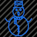 christmas, clause, santa, snowman icon