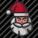 claus, face, head, santa icon