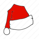 christmas, claus, hat, santa