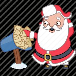 christmas, holiday, mail, mailbox, new year, santa, xmas icon
