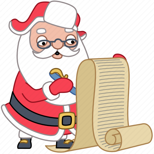 check christmas document holiday list santa xmas icon