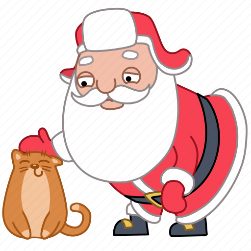 animal, cat, christmas, holiday, pet, santa, xmas icon