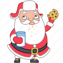 christmas, cookie, holiday, milk, santa, sweet, xmas icon