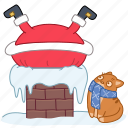 cat, chimney, christmas, holiday, roof, santa, xmas icon
