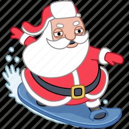 chill, christmas, holiday, santa, surf, vacation, xmas icon