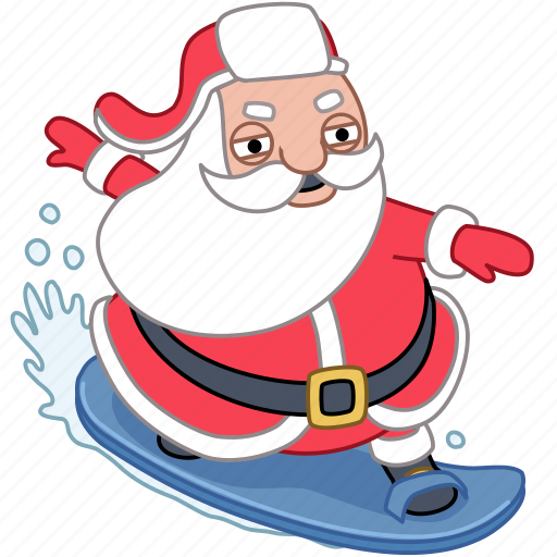 chill, christmas, holiday, santa, surf, vacation, xmas icon