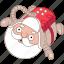 austronaut, christmas, holiday, nasa, santa, space, xmas icon