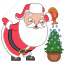 christmas, hoilday, plant, santa, tree, water, xmas icon