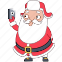 christmas, holiday, phone, photo, santa, selfie, xmas icon