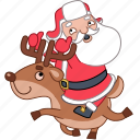 christmas, deer, holiday, ride, rudolph, santa, xmas icon