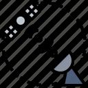 antenna, broadcasting, communication, electronics, satellite, space, station icon