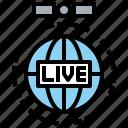 antenna, communication, electronics, live, satellite, space, station icon
