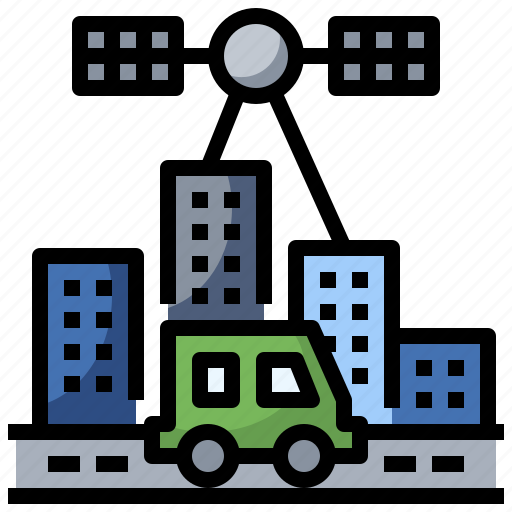 antenna, communication, electronics, navigation, satellite, space, station icon