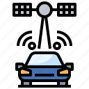 antenna, car, communication, electronics, satellite, space, station icon