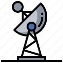 antenna, communication, dish, electronics, satellite, space, station icon