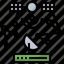 antenna, communication, electronics, receiver, satellite, space, station icon
