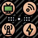 antenna, communication, electronics, satellite, space, station, transmission icon
