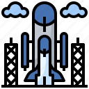 antenna, communication, electronics, satellite, shuttle, space, station icon