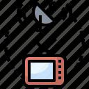 antenna, communication, electronics, satellite, space, station, tv icon