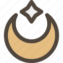 crescent, islamic, moon, star