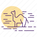 camel, desert, saudi icon