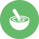 bowl, cake, cooking, dough, hand, mixing, stir icon