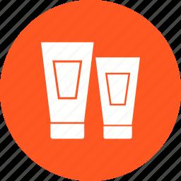 bottle, cosmetic, cream, shampoo, toothpaste, tube icon