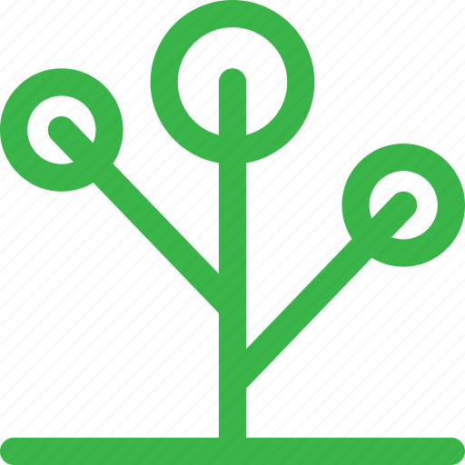 forest, grow, nature, network, plant, thin, tree icon