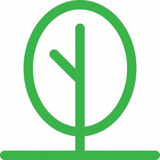green, grow, nature, plant, round, tree, trees icon