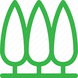 forest, green, group, grow, nature, plant, tree icon