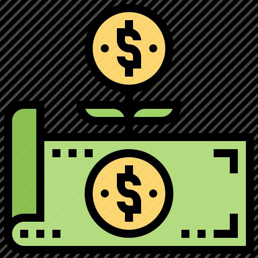 cash, earning, income, money, revenue icon