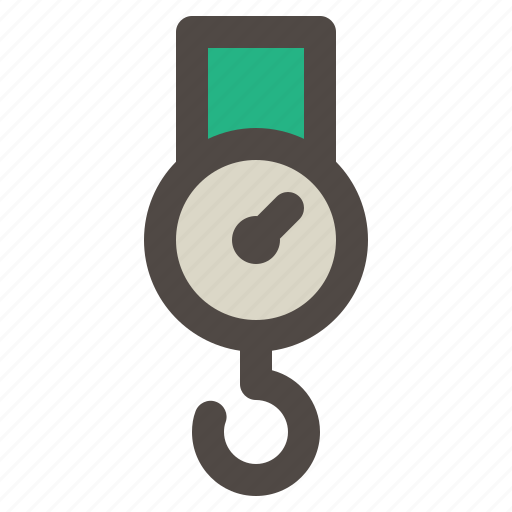 Crane, hook, measuring, scale, weight icon - Download on Iconfinder