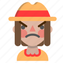 angry, emoji, halloween, horror, monster, scarecrow icon