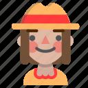emoji, halloween, happy, horror, monster, scarecrow icon