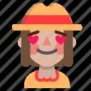 emoji, halloween, horror, in, love, monster, scarecrow icon