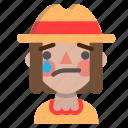 emoji, halloween, horror, monster, sad, scarecrow icon