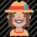 emoji, halloween, horror, monster, scarecrow, sorry icon
