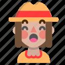 emoji, halloween, horror, monster, scarecrow, surprised icon