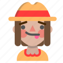 emoji, halloween, horror, monster, scarecrow, tongue icon