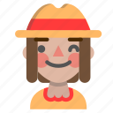 emoji, halloween, horror, monster, scarecrow, wink icon