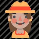 emoji, female, halloween, happy, horror, monster, scarecrow icon
