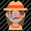 emoji, female, halloween, horror, monster, sad, scarecrow icon